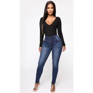 Fashion Nova Butt On High Waist Skinny Jeans Dark
